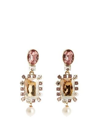 embellished earrings light pink light pink jewels