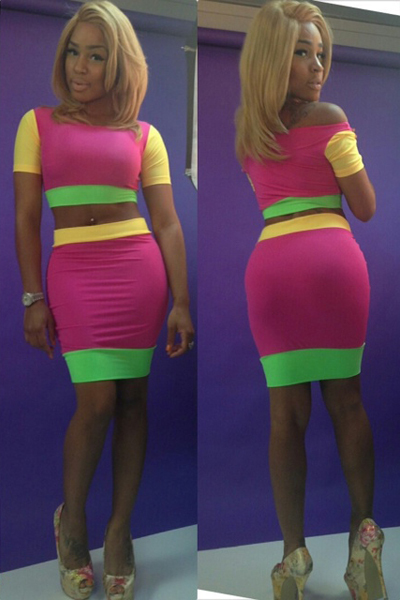 Free Shipping New Fashion 2013 Vestidos Sexy Colorful Dress Women 2PCS Party Dress Bodycon Novelty Dresses S M L-in Apparel & Accessories on Aliexpress.com