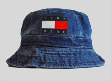 Denim tommy very rare bucket hat vintage