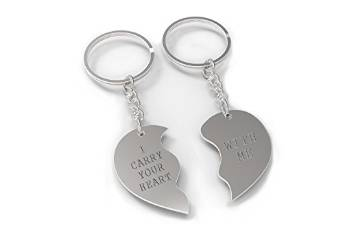 Amazon com: I Carry Your Heart With Me Half Hearts Couple Keychains Cute  Matching Key Ring: Clothing
