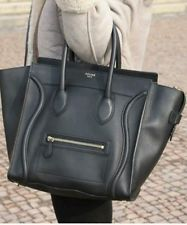 Celine Paris Handtasche Echtleder in schwarz | eBay