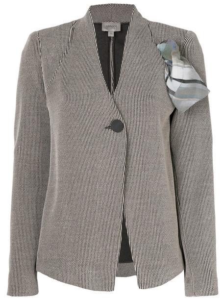 Armani Collezioni blazer women nude cotton silk wool jacket