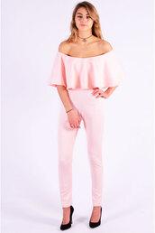 jumpsuit,pink dress