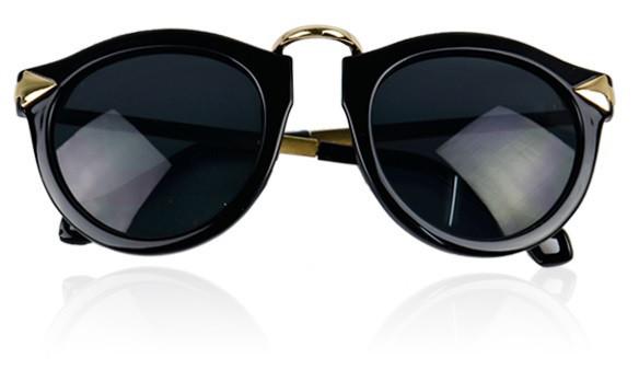 Black & gold owl eyed sunglasses