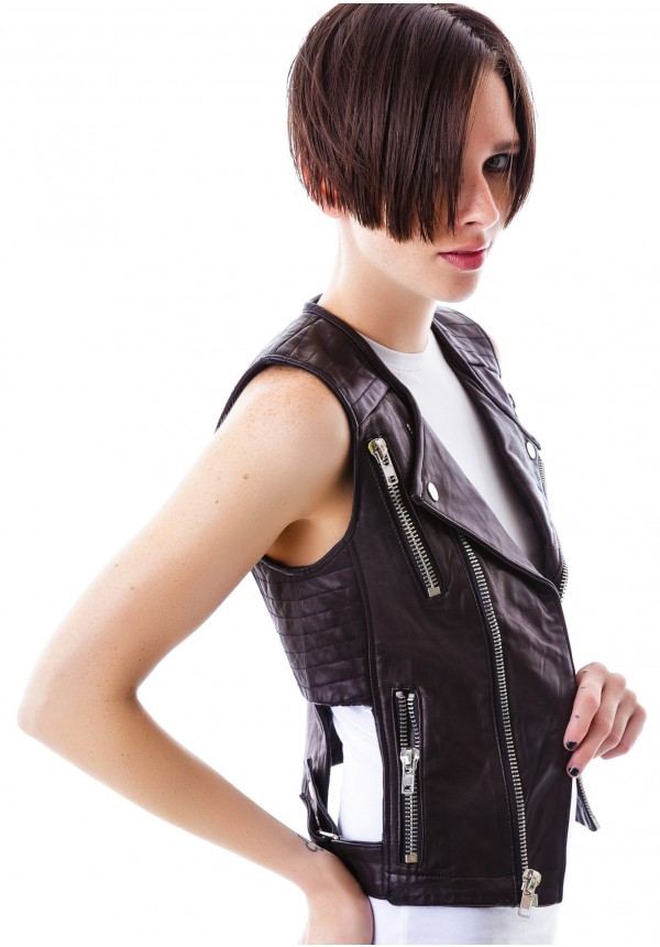 Kill City Harley Zipper Cutout Vest | Dolls Kill