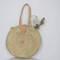 Round basket, round straw bag, panier rond, runder strohbeutel, summer basket, straw tote, cesta redonda, market basket, shopping basket.