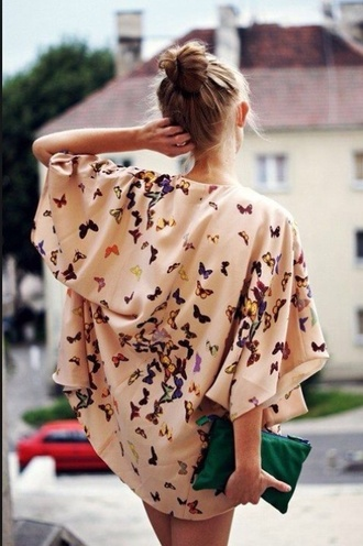 cute cardigan kimono butterfly