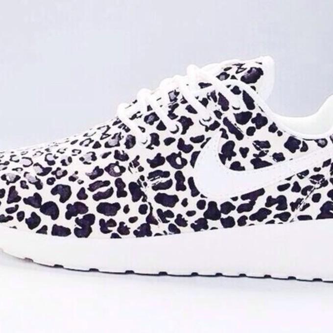 d3e60715c36bdf ... new zealand nike roshe run leopard print black white 91cb6 6a983