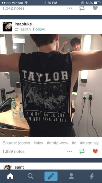 taylor swift mens tank top