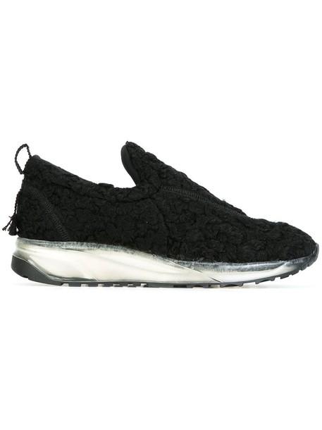 MAISON MARGIELA women sneakers cotton black shoes