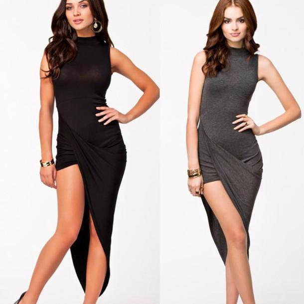 Asymmetric Drape Dress: Related Keywords & Suggestions For Long Asymmetrical Dresses