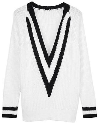 sweater deep v neck v neck jumper
