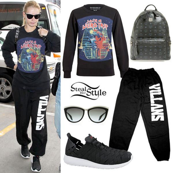 iggy azalea sweatpants sweater bag shoes sunglasses