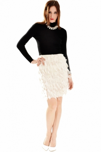 skirt beige skirt rosette mini skirt