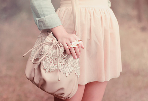 light pink pink skirt pale pink pretty pink cute mini skirt flare skirt bag purse ring girly kawaii korean kfashion japanese
