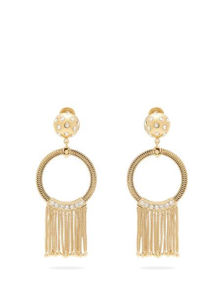 Prada tassel embellished earrings gold jewels