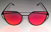 sunglasses,rose gold,cat eye