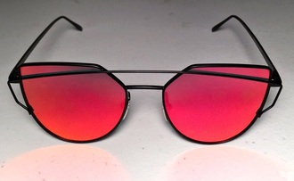sunglasses rose gold cat eye