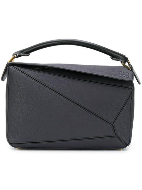 LOEWE women bag leather blue