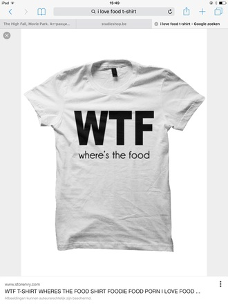 shirt wtf where's the food grey t-shirt