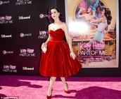 dress,beautiful red dress,katy perry