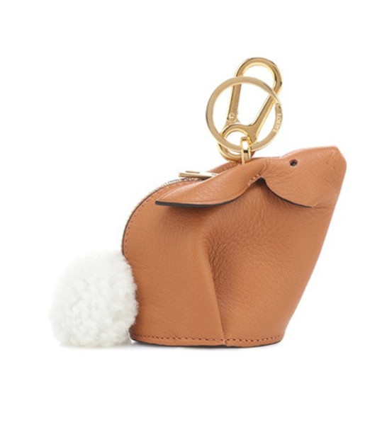 Loewe Bunny leather pouch in brown