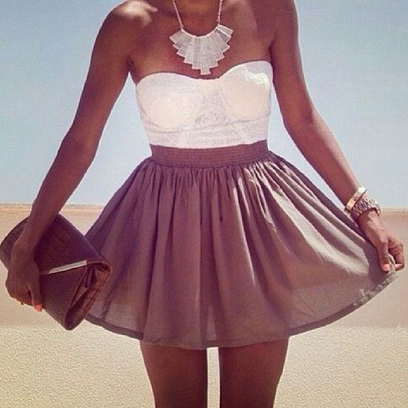 dress brown dress white dress tank top skirt