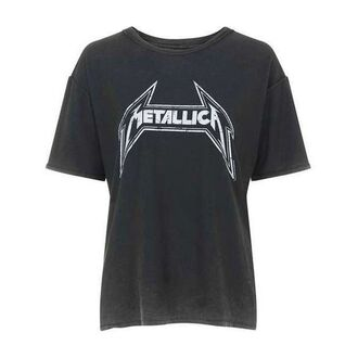 t-shirt grey metallica band metal rock punk