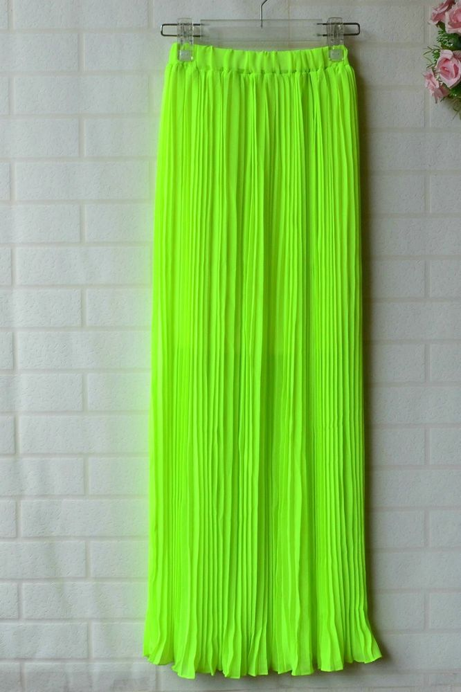 lime green maxi skirt dress