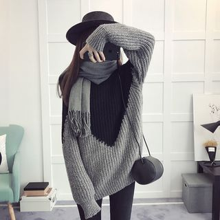 Color Block Thick Sweater