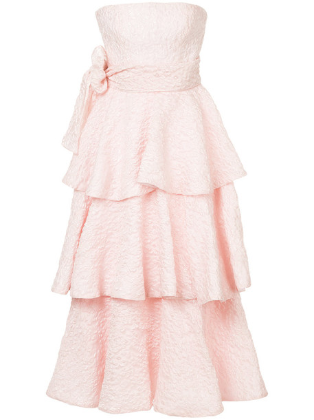 dress ruffle dress ruffle women silk purple pink