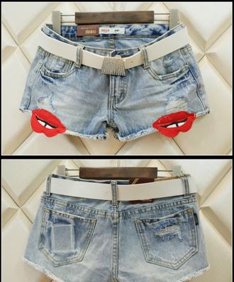 shorts jeans denim denim shorts sexy moustache beauty fashion shopping beach