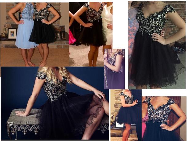 dress black dress black prom dress homecoming prom homecoming dress tulle skirt tulle dress tulle skirt little black dress