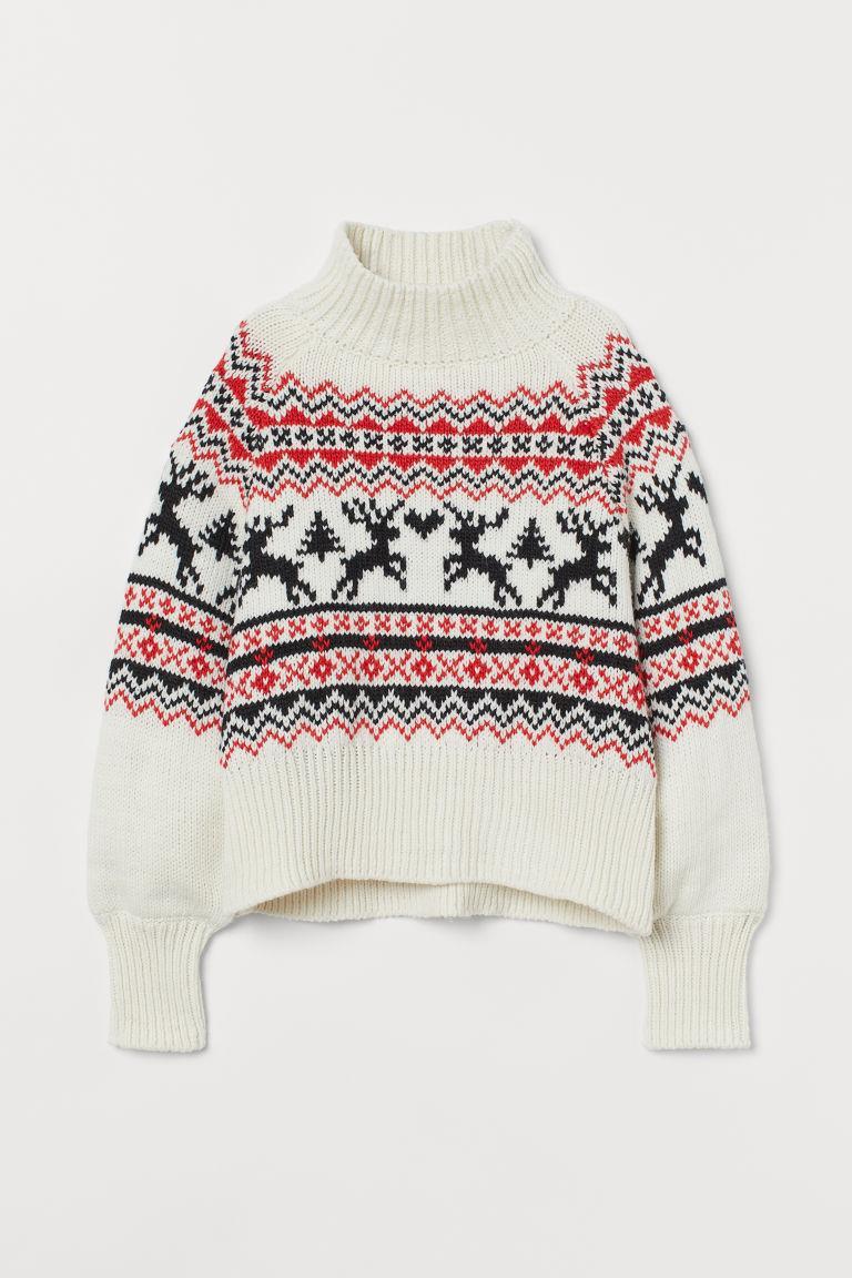 Knit Mock-turtleneck Sweater