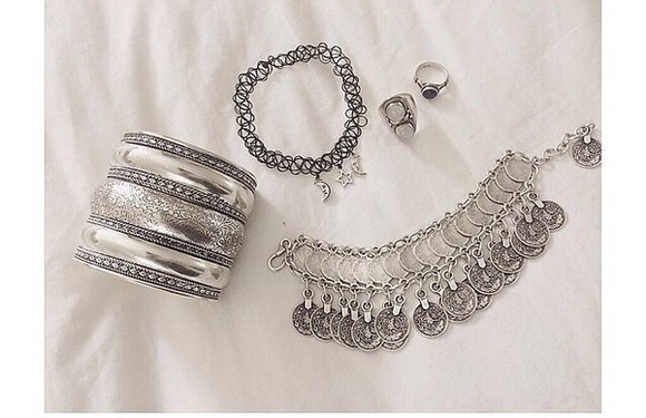 jewels bracelets bangle beautiful necklace silver moon ring