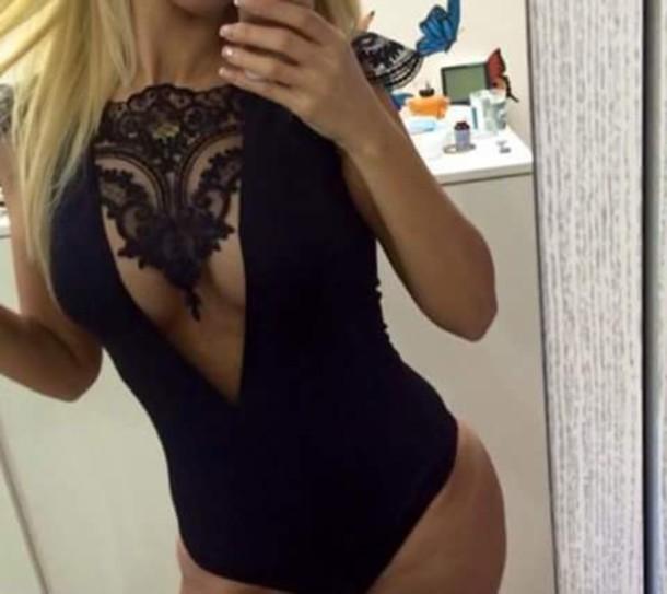 blouse bodysuit lace top