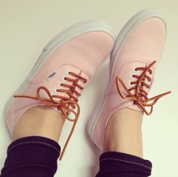 vans vans off the wall shoes salmon pink laces size 6 cheaper price