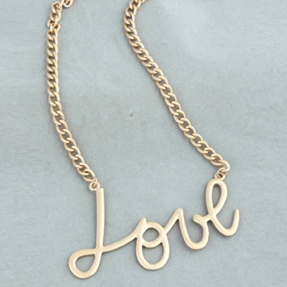 jewels accessories necklace gold love necklace chain fashion swag hip hop