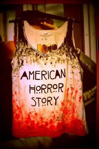 tank top american horror story t-shirt top tv show shirt