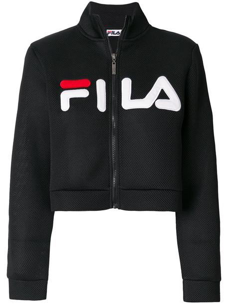fila jacket cropped mesh women black