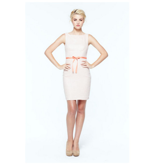 lauren conrad classic classy spring simple boat neck high neckline short dress semi formal boat neckline dress