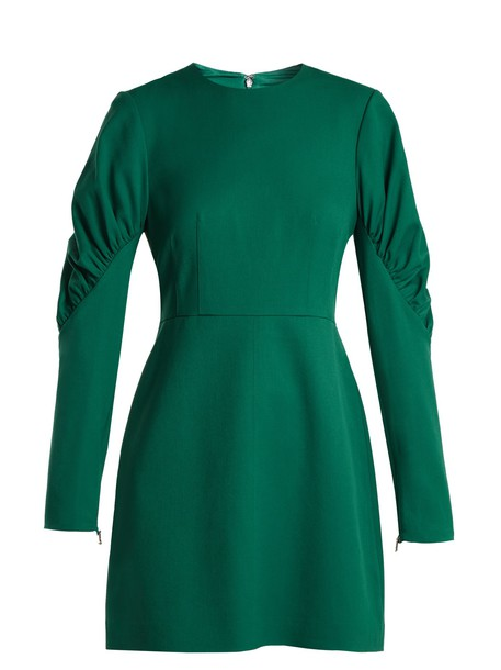 Tibi dress mini dress mini green