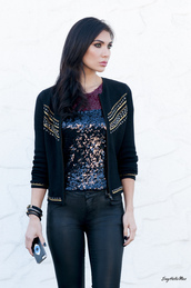 say hello max,sweater,jacket,tank top,t-shirt,pants,shoes,jewels,sequin shirt