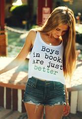 Boys in books crop top