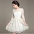 White  Elegant  Dress - Juicy Wardrobe