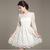 White  Elegant  Dress - Juicy Wardrobe