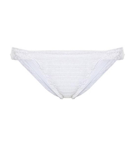 Anna Kosturova Lacey cotton crochet bikini bottoms in white