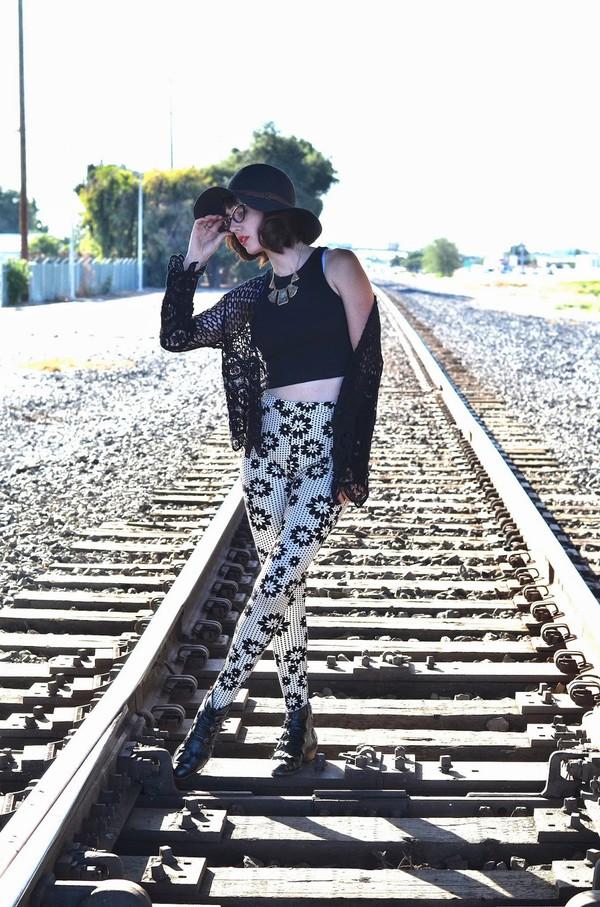 a fashion nerd cardigan pants hat jewels shoes bag