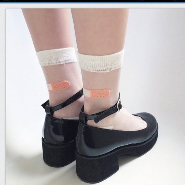 shoes black shoes black ankle strap buckles sandals cute heels heel ankle strap heels black heels joanna kuchta socks socks and sandals cute socks kawaii accessory lolita gothic lolita transparent halloween accessory adams family chunky shoes mary jane shoes black joanna kutcha mary janes