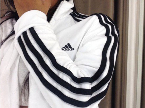 jacket adidas originals sportswear adidas sweater black and white baddies nike black and white bag swag white adidas jacket adidas jacket white jacket sports jacket white adidas track jacket adidas 3 stripes black